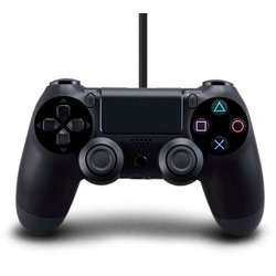 Geeek PS4 Wired Controller Double Dual Shock Zwart