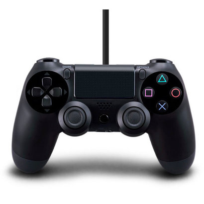 Geeek PS4 Wired Controller Doppel Dual Shock Schwarz