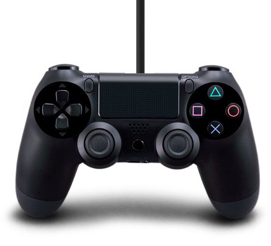 PS4 Wired Controller Double Dual Shock Zwart