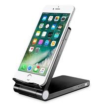 3 in 1 Smartphone Draadloze Oplader Bureauhouder Powerbank QI Zwart