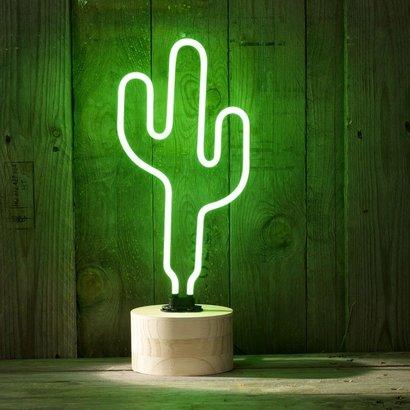 Geeek Sunny Leben Neon Cactus Neon-Lampe Light Green
