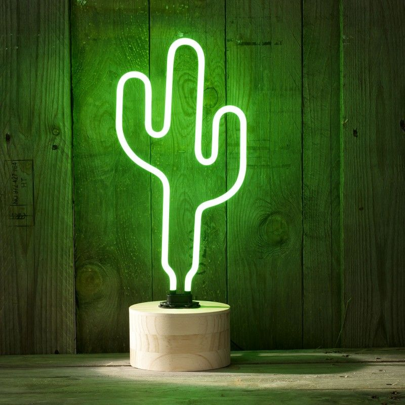 Geeek Sunnylife Neon Cactus Lamp Neon Light Green