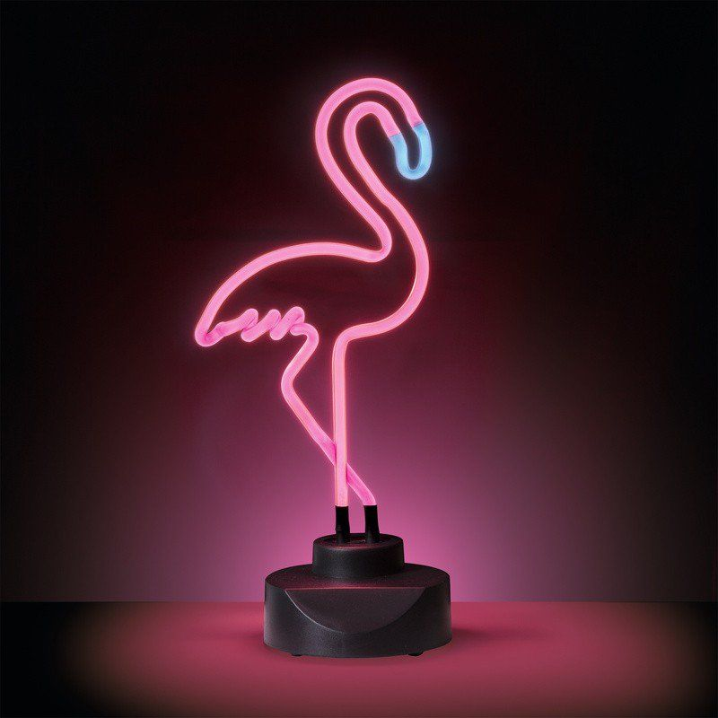 geeek sunny leben neon lampe neon flamingo pink beleuchtung. Black Bedroom Furniture Sets. Home Design Ideas