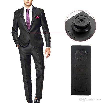 Geeek Spyknop Verborgen HD Camera Met Microfoon 8GB