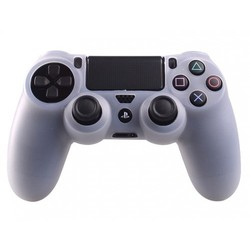 Geeek PS4 Controller Silikonschutzhülle Cover Skin - Transparent