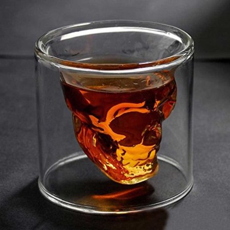 Geeek Doomed Designer Schedel Skull Borrelglas Shot Glas 2 stuks