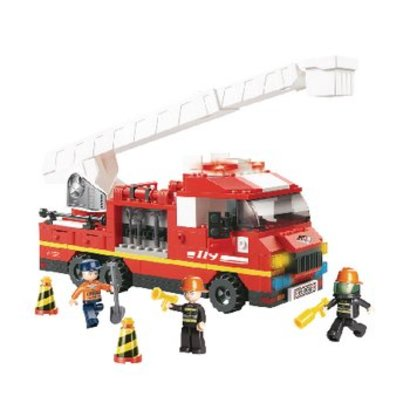 Sluban Bouwstenen Fire Serie Ladderwagen
