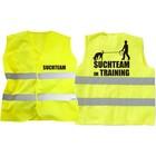 Warnweste Suchteam im Training
