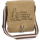 Tasche - Vintage Canvas all you need is a dog by your side