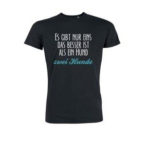 Herren T-Shirt Es gibt nur eins was besser ist als ein Hund