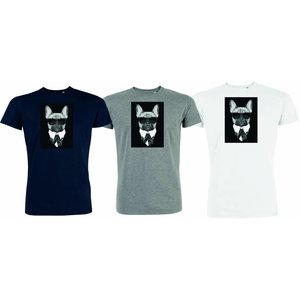 Herren T-Shirt French Bulldog
