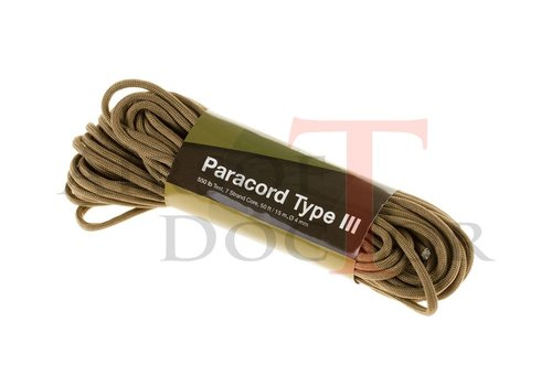Invader Gear Paracord 550lb Coyote Tan 50 feet