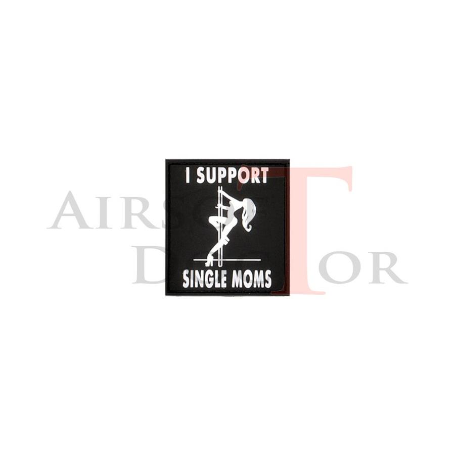 I Support Single Moms Patch - Black-1