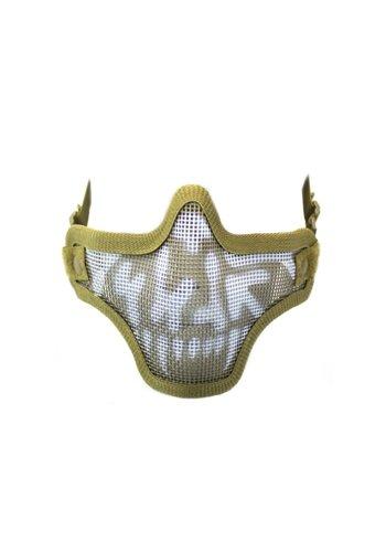 WEEU Nuprol Mesh Lower Face Shield V1 - Skull Tan