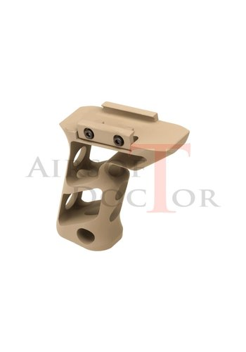 Metal CNC Picatinny Long Angled Grip - Tan