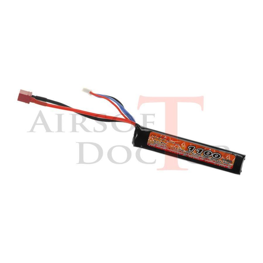 11.1V 1100mAh 20C Stock Tube - Dean-3