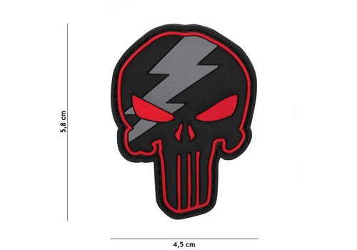 Patch Punisher Thunder Red - PVC