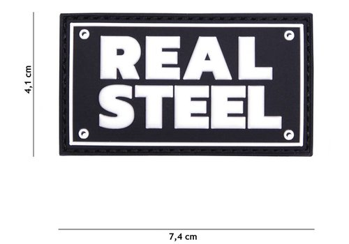 101Inc. Patch Real Steel Zwart - PVC