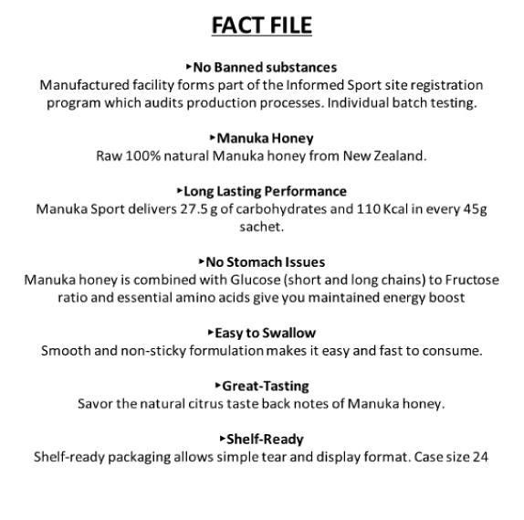 Manuka Gel Fact