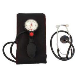 Blutdruckmesser manuell mit Stethoskop, extra große Manschette für Armumfang bis zu 60cm