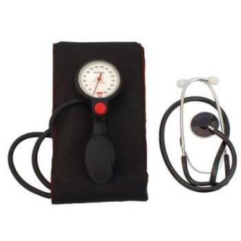 Manuelles Blutdruckmessgerät mit Stethoskop und inklusive XXL Manschette für einen Oberarmumfang 41 - 60 cm