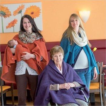 Cape für Rollstuhlfahrerinnen, schwangere Frauen & junge Mütter und Seniorinnen