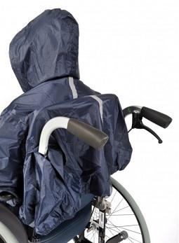 Regenmantel für Rollstuhlfahrer - Regenponcho mit Ärmel von Wi-Care