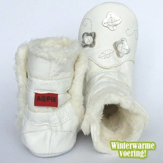 Aapies Winterboot Flower White