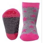 Antislip sokken Grijs Roze