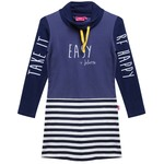 Little Miss Juliette Sweat Jurk Blauw