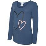 Mamalicious Shirt Heartie Blauw