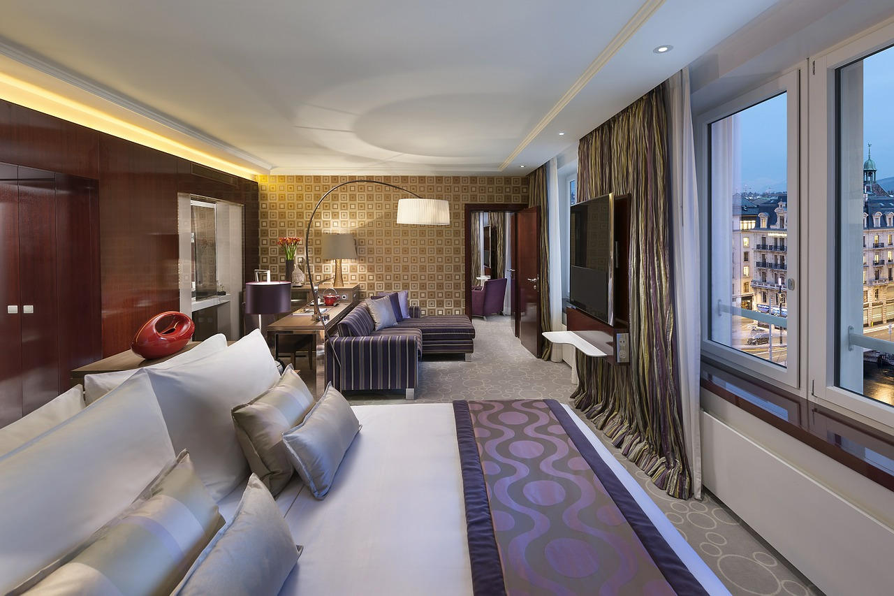 Slaapkamer als hotelkamer