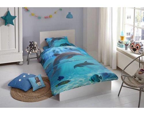 Good Morning Junior Kinderdekbedovertrek Dolfijnen