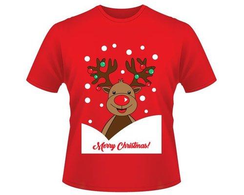 Kerst T-shirt Rendier