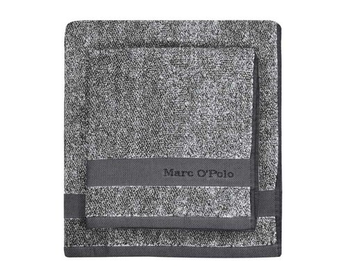 Marc O'Polo Washandje Melange antraciet/zilver
