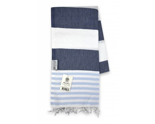 The One Towelling Hamamdoek Marine Blauw
