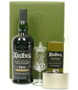 Ardbeg 10 Years Old With Hipflask And Tasting Glass