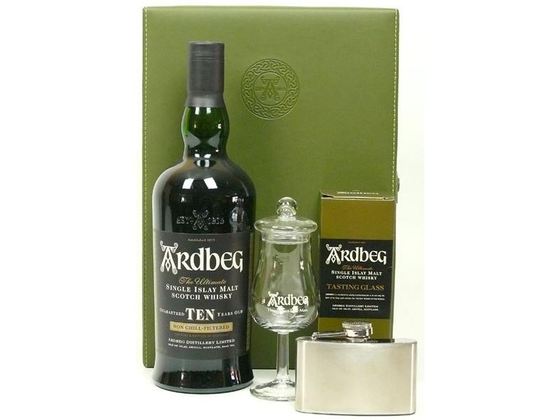 Ardbeg 10 Years Old With Hipflask And Tastingglass
