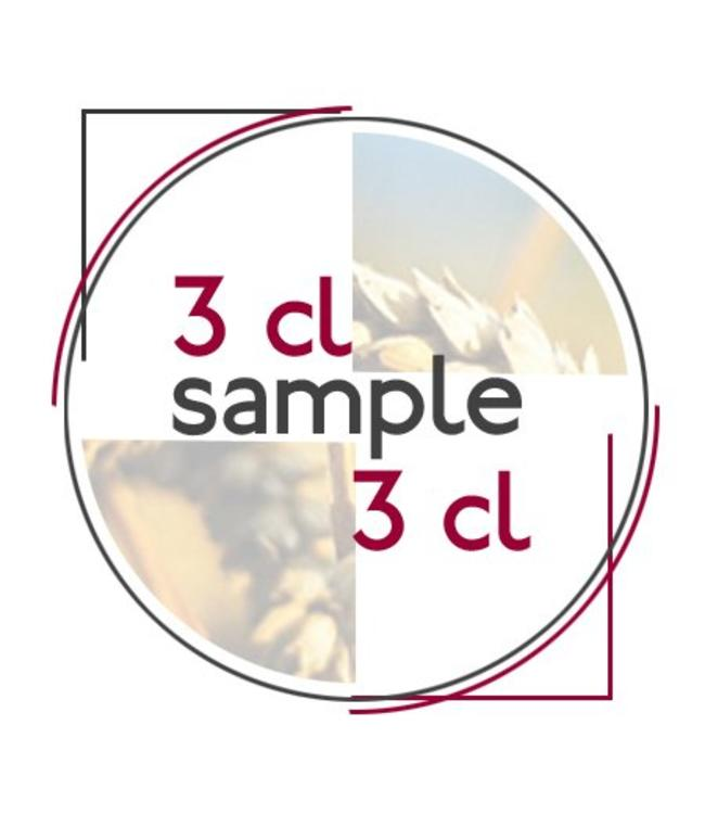 Blank / empty sample bottle with cap 3 CL