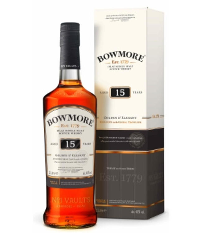 Bowmore 15 Years Old Golden & Elegant Liter