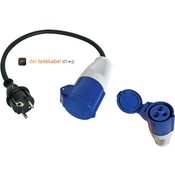 Der LadeKabel Shop Adapter Schuko auf CEE-3pol