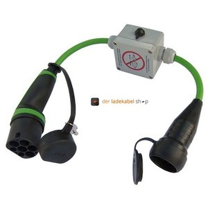 Ratio Typ 2 auf Schuko Adapter mit Schlüsselschalter, 0,7 Meter