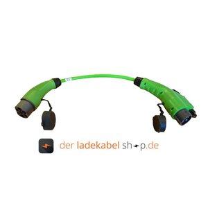 Ratio Adapter Typ 2 (männlich/male) auf Typ 1 (weiblich/female), 32A, 1 Phase, 0,7 Meter