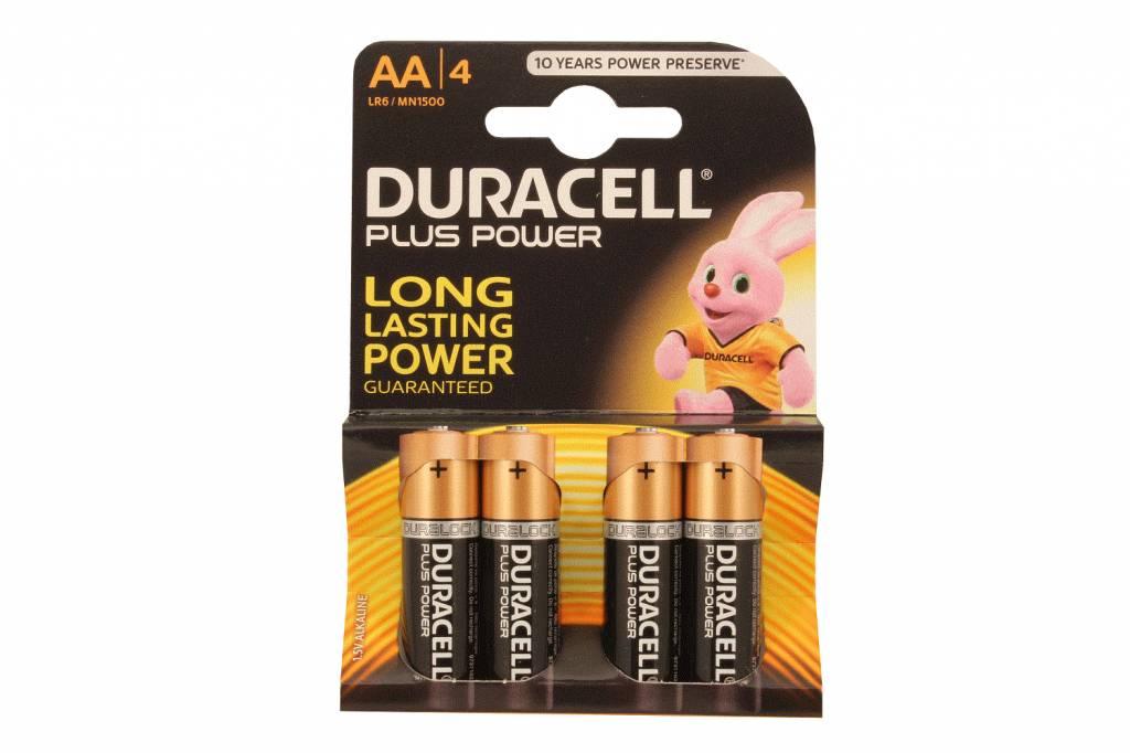 Aa Alkaline Batterijen Duracell Plus Blister 4 Stuks