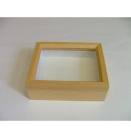 Wooden insect box with glass lid