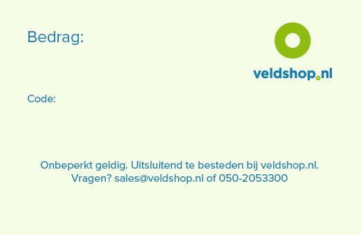 veldshop.nl Cadeaukaart Veldshop.nl