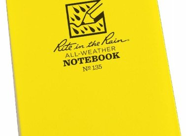 Water resistant notebooks