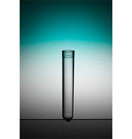 Reageerbuis plastic 13 x 75 mm + dop (100 stuks)