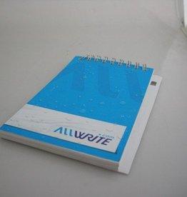 Watervast notitieboekje
