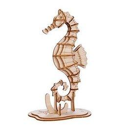 Houten zeepaard puzzel 3D